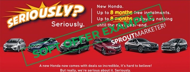 Sales Offer Type 2 - Soft Offer - Honda