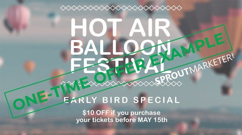 Sales Offer Type 3 - One Time Offer - Hot Air Balloon Promotion