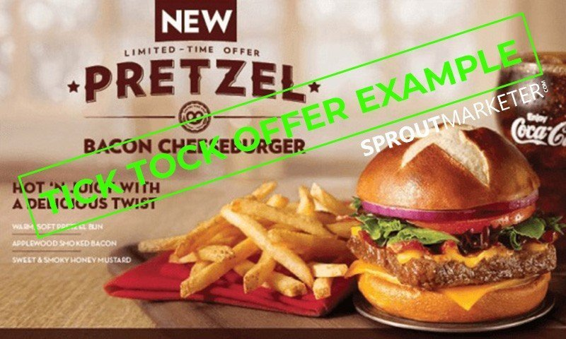 Sales Offer Type 5 - Tick Tock Offer - Pretzel Burger Sale