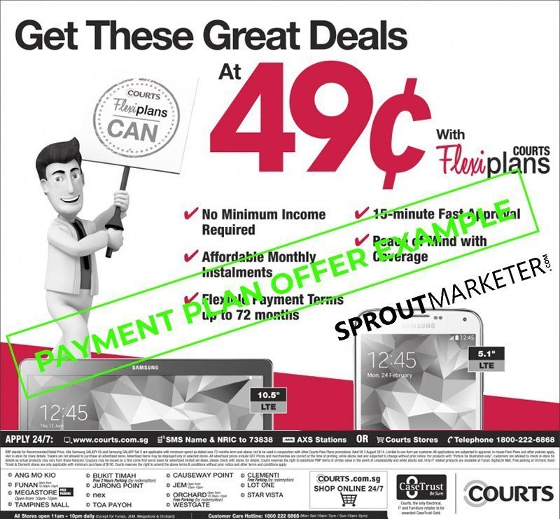Sales Offer Type 7 - Payment Plan Offer - Courts