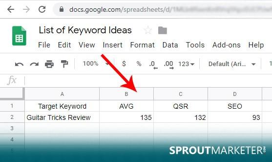 Google-Sheet-List-of-Keyword-Ideas